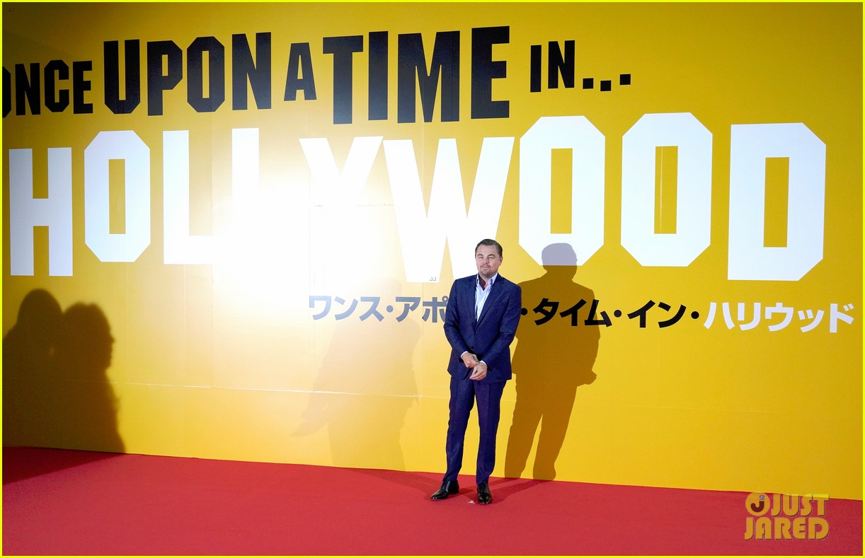 leonardo dicaprio suits up for once upon a time in hollywood japan premiere 074340090