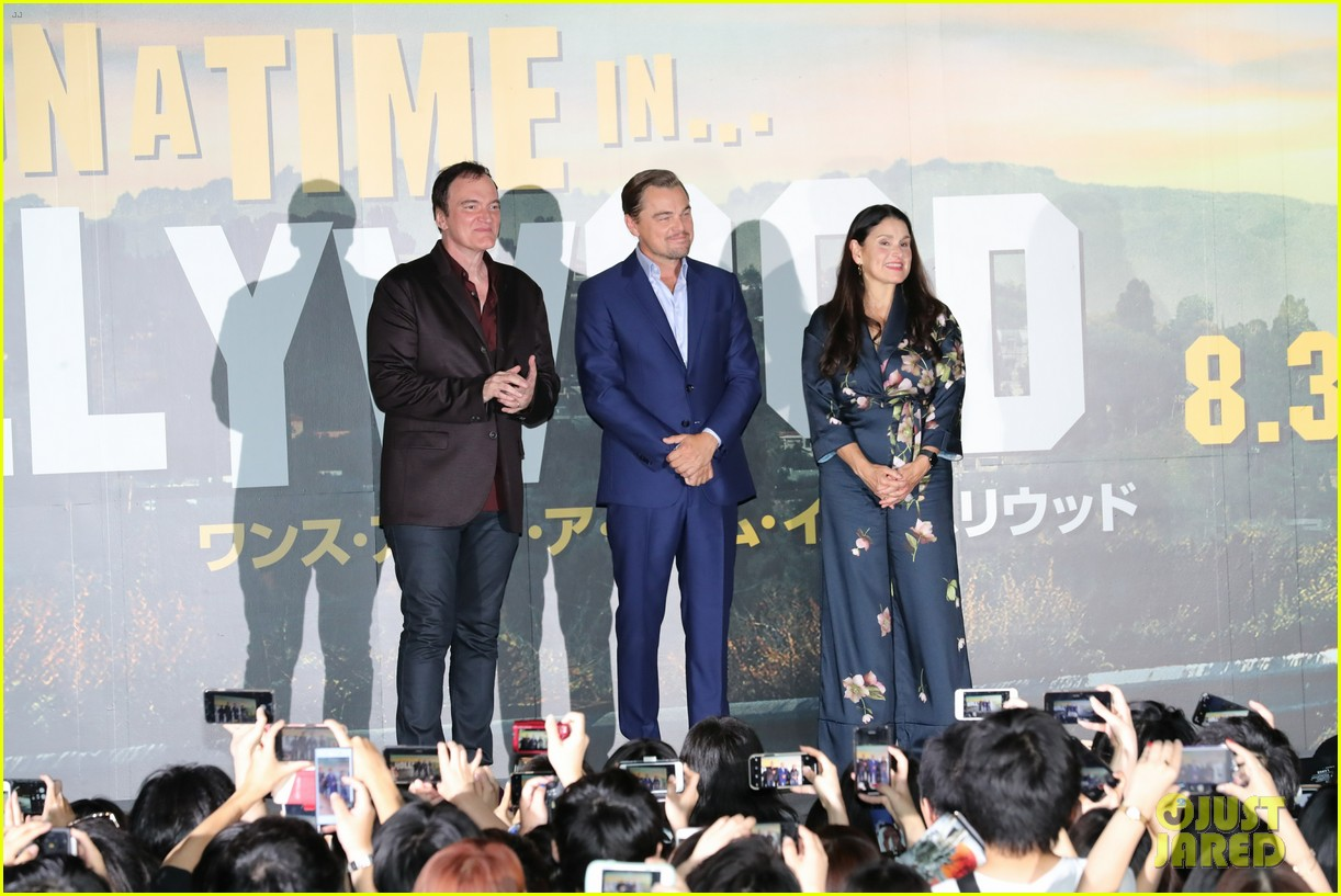 leonardo dicaprio suits up for once upon a time in hollywood japan premiere 094340092