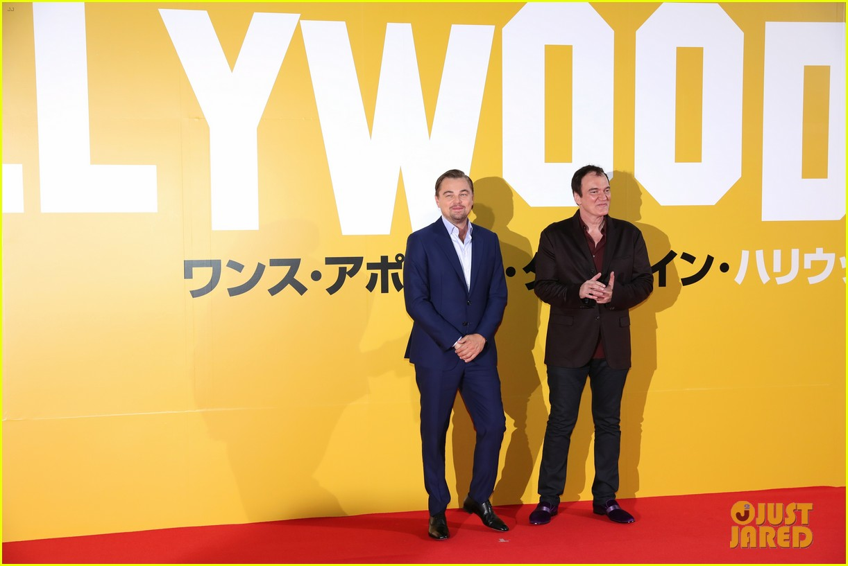 leonardo dicaprio suits up for once upon a time in hollywood japan premiere 104340093