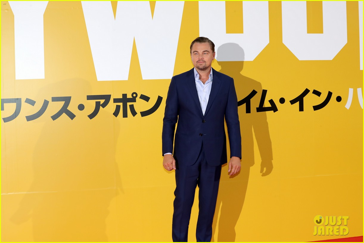 leonardo dicaprio suits up for once upon a time in hollywood japan premiere 134340096