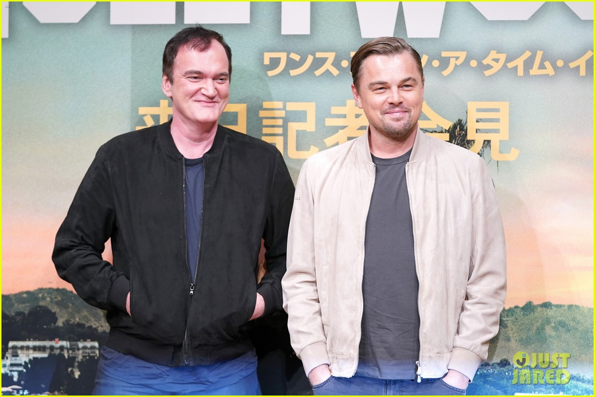 leonardo dicaprio joins quentin tarantino ouatih japan press conference 014340013