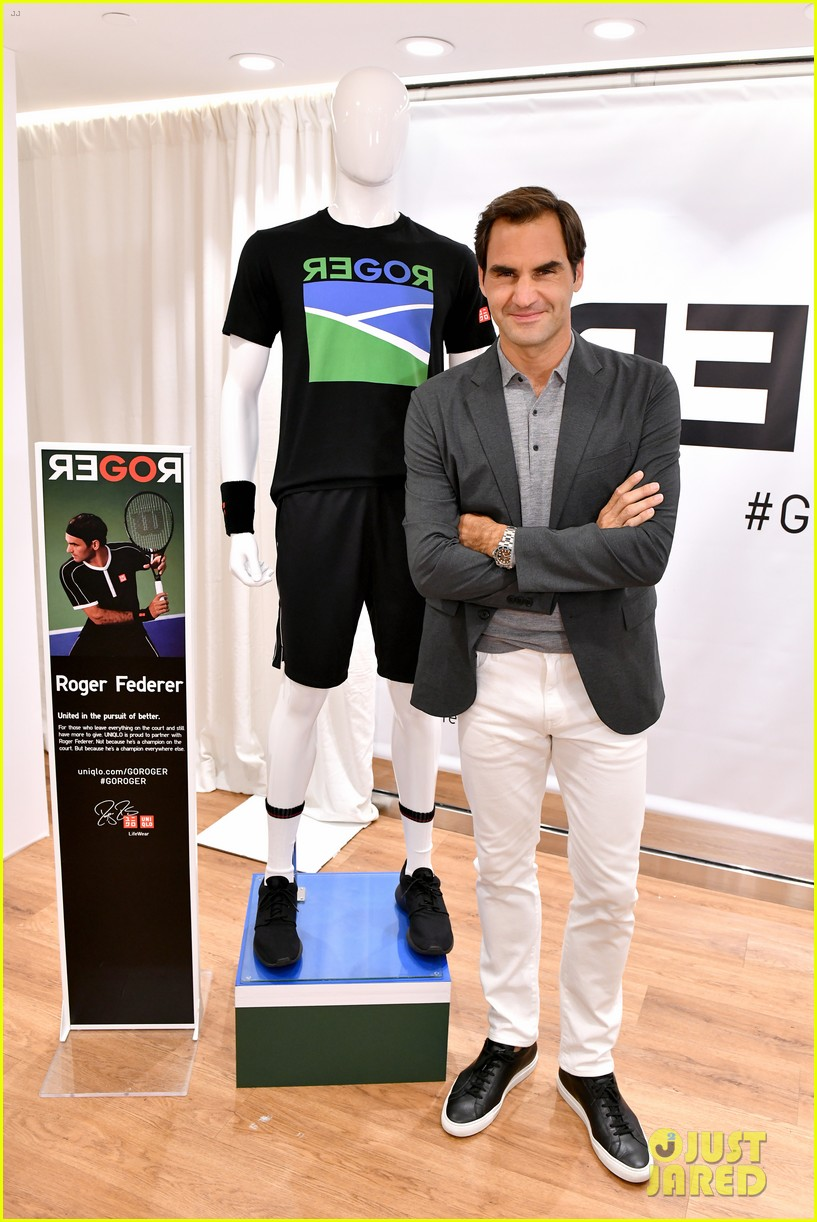roger federer launches new uniqlo lifewear collection 014337926