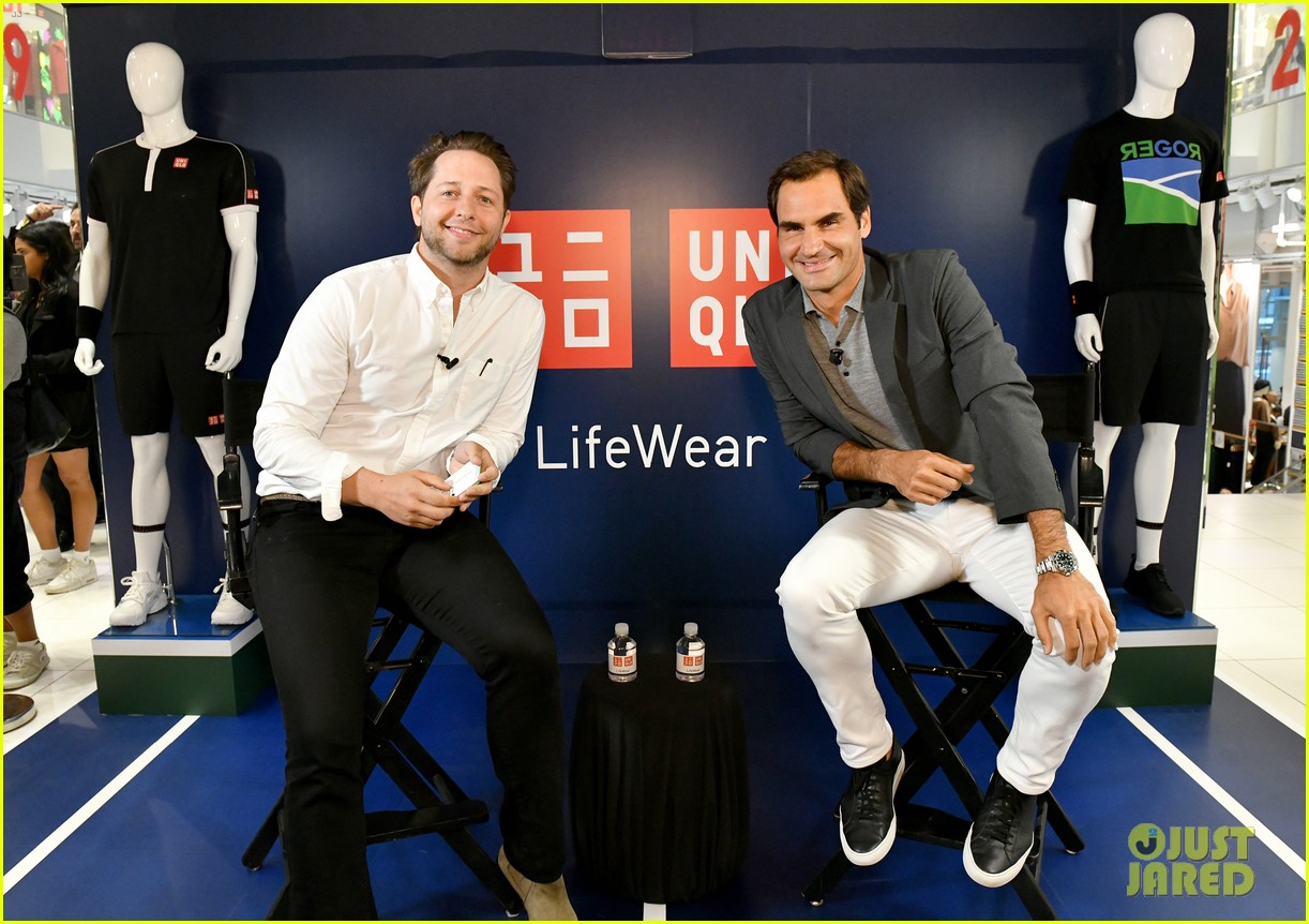 roger federer launches new uniqlo lifewear collection 034337928