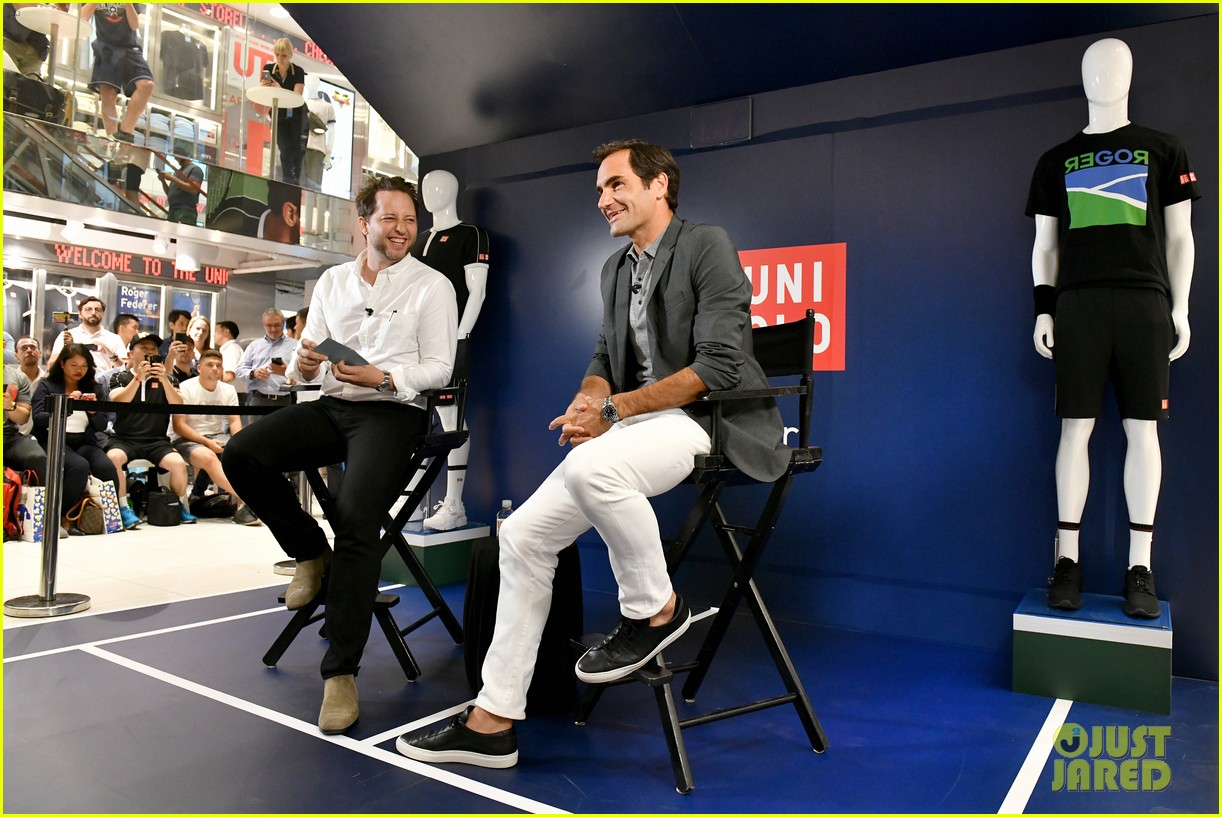 roger federer launches new uniqlo lifewear collection 054337930