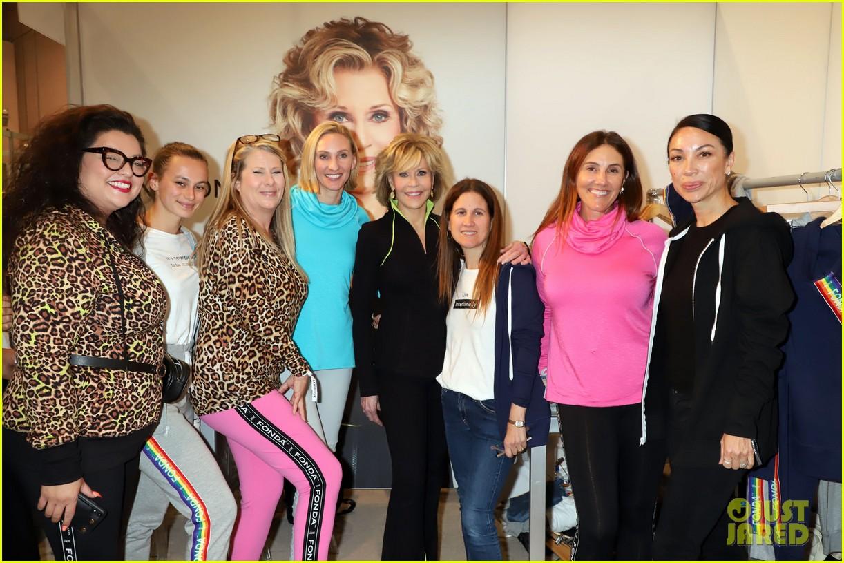 Jane Fonda Presents New Activewear Collection At Magic