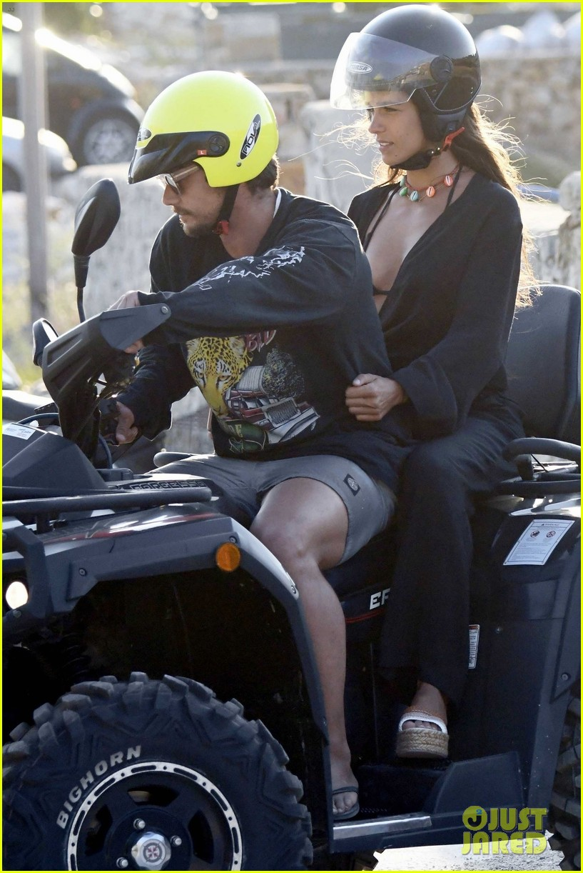 james franco isabel pakzad quad bike at beach in mykonos 034342506