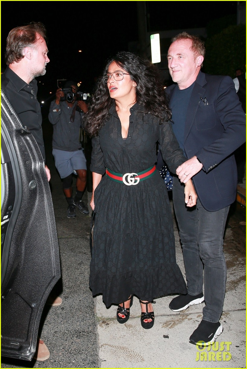salma hayek francois henri pinault step out for date night in santa monica 054337213