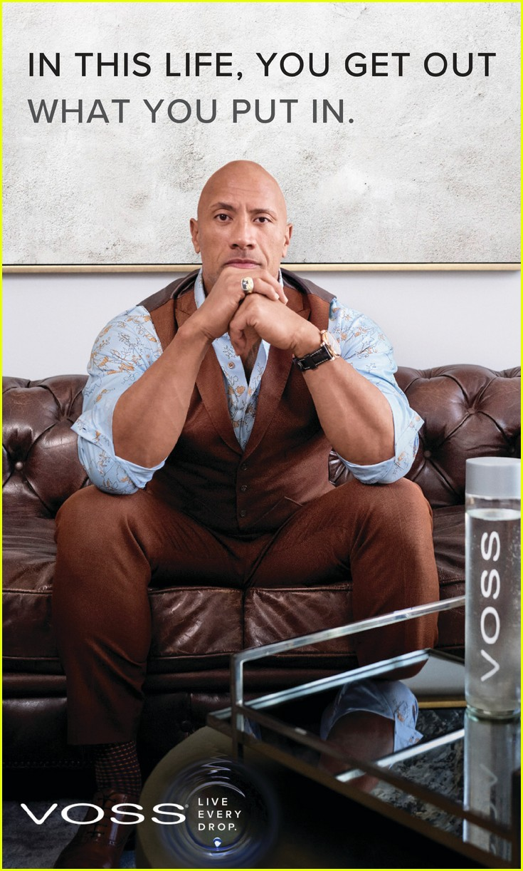 Dwayne Johnson His Dog Star In Voss Water S New Campaign