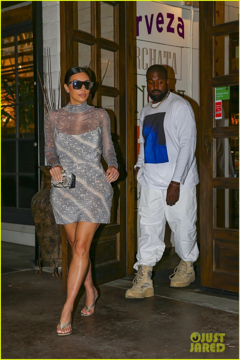 kim kardashian kanye west out for dinner 034331668