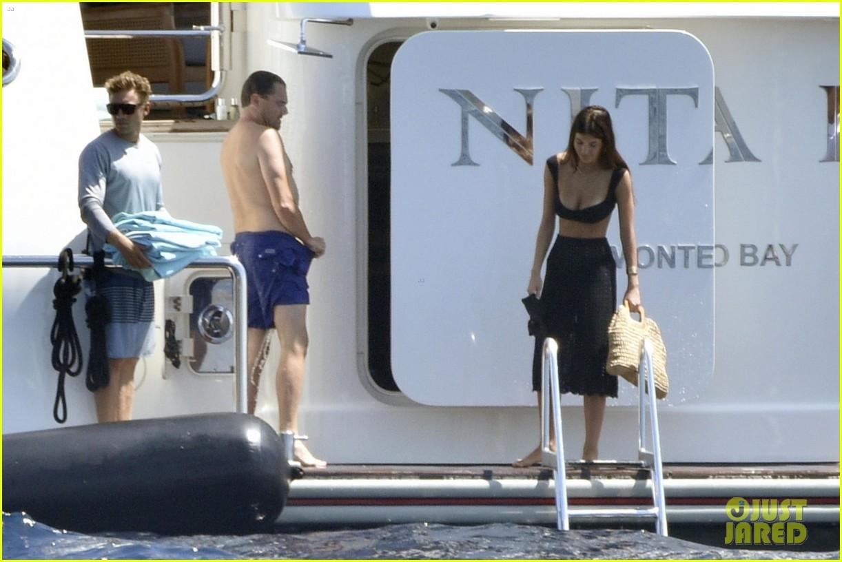 leonardo dicaprio yacht day camila morrone 054334511