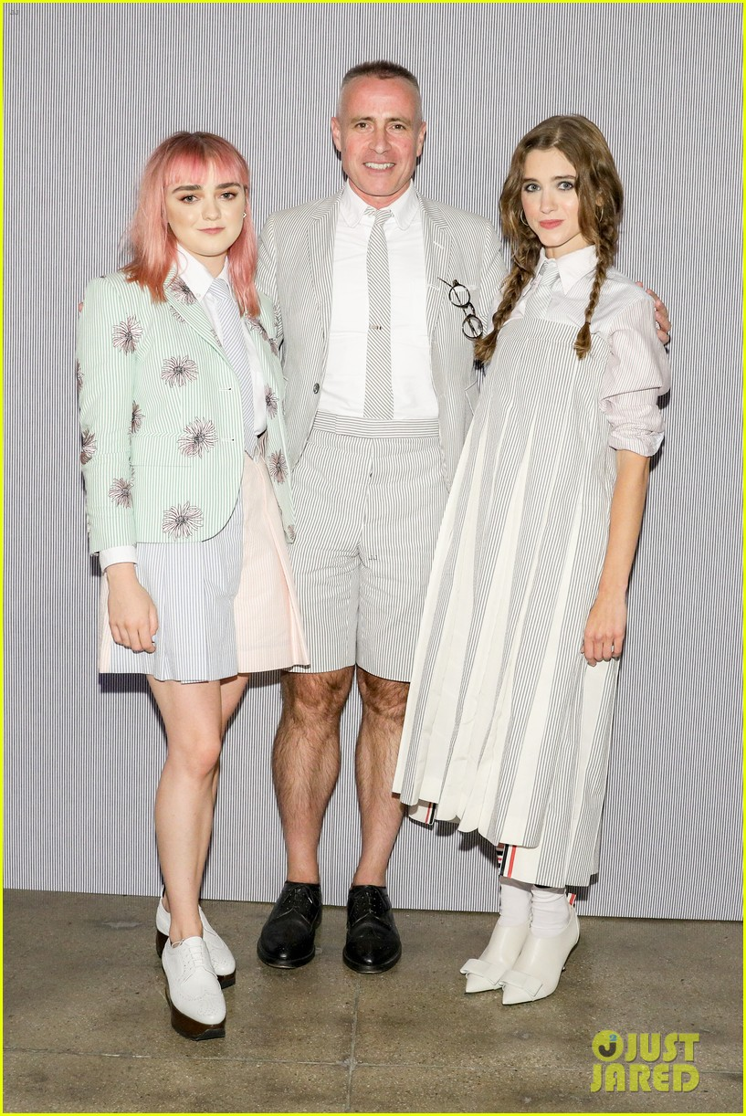 maisie williams natalia dyer charlie heaton attend thom browne dinner 054339836