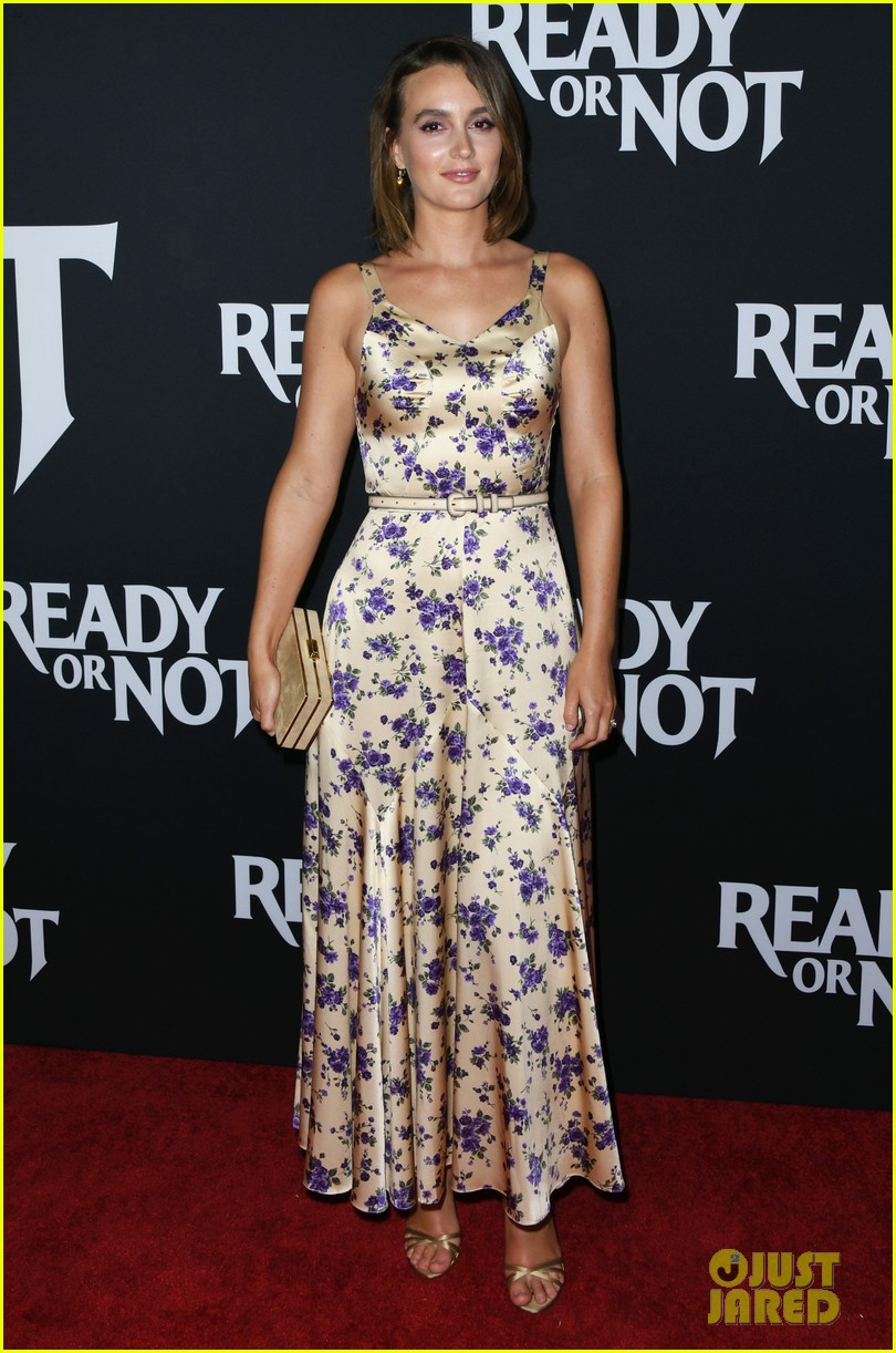 leighton meester supports adam brody at ready or not premiere 034337464