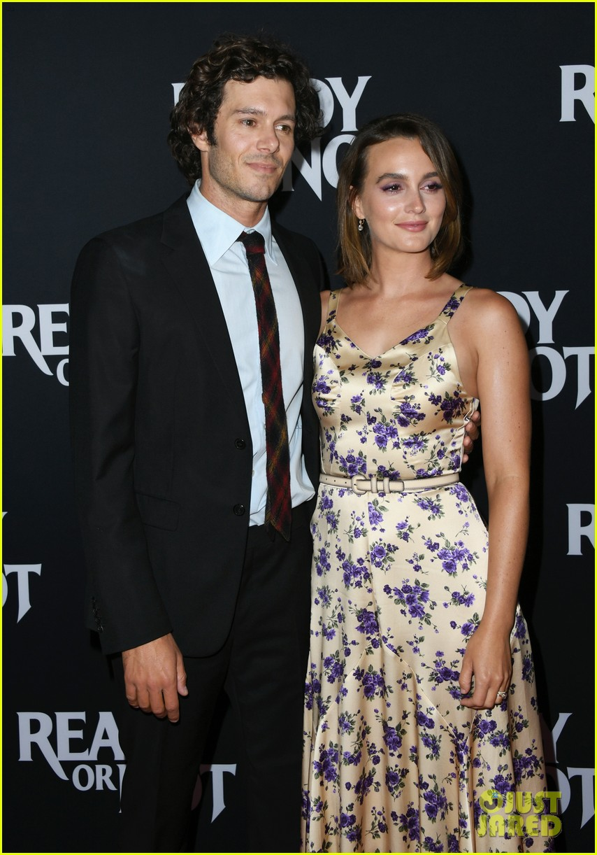 leighton meester supports adam brody at ready or not premiere 054337466