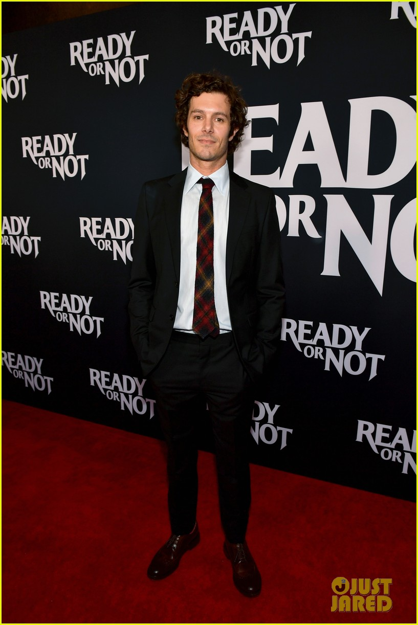 leighton meester supports adam brody at ready or not premiere 084337469