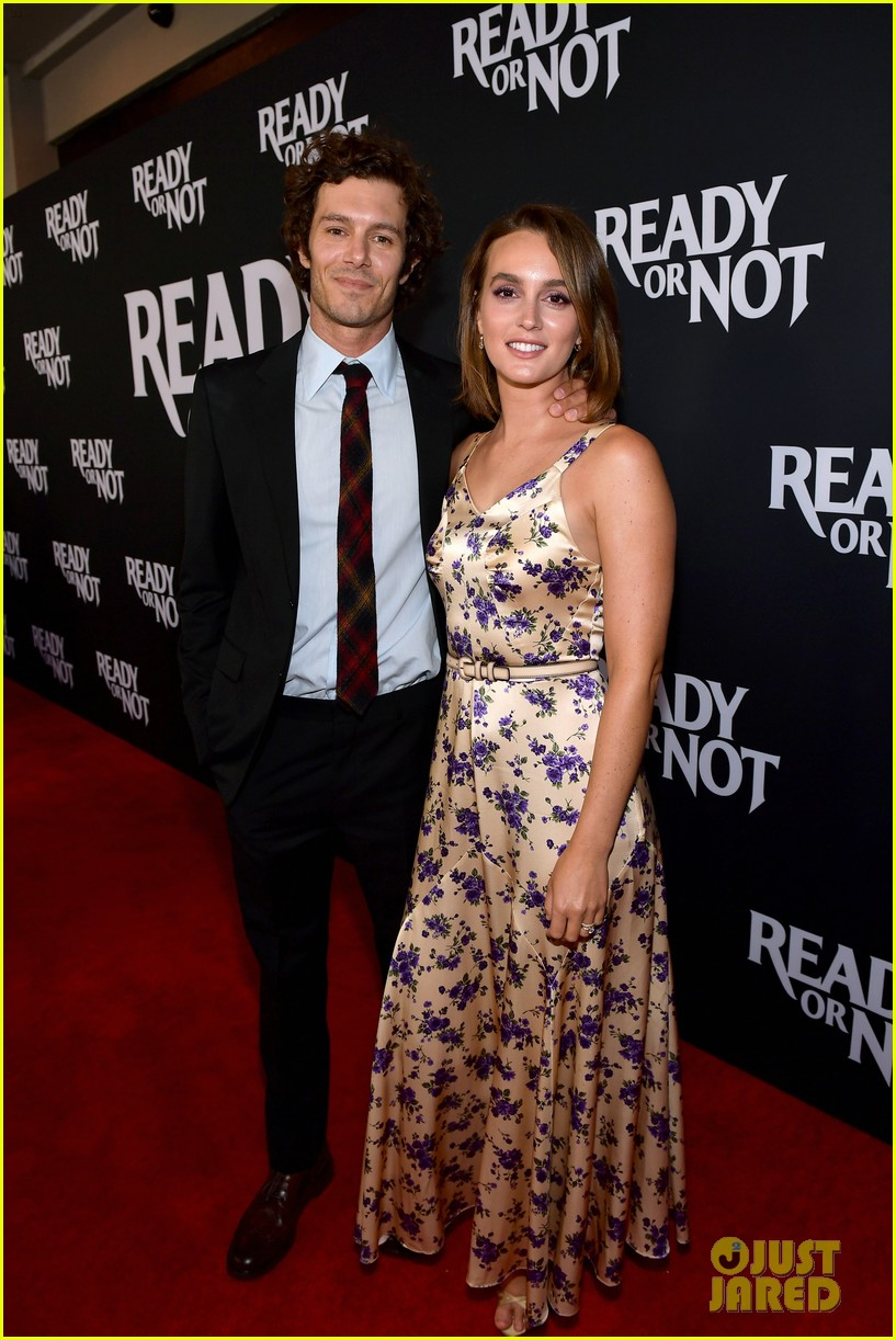 leighton meester supports adam brody at ready or not premiere 094337470