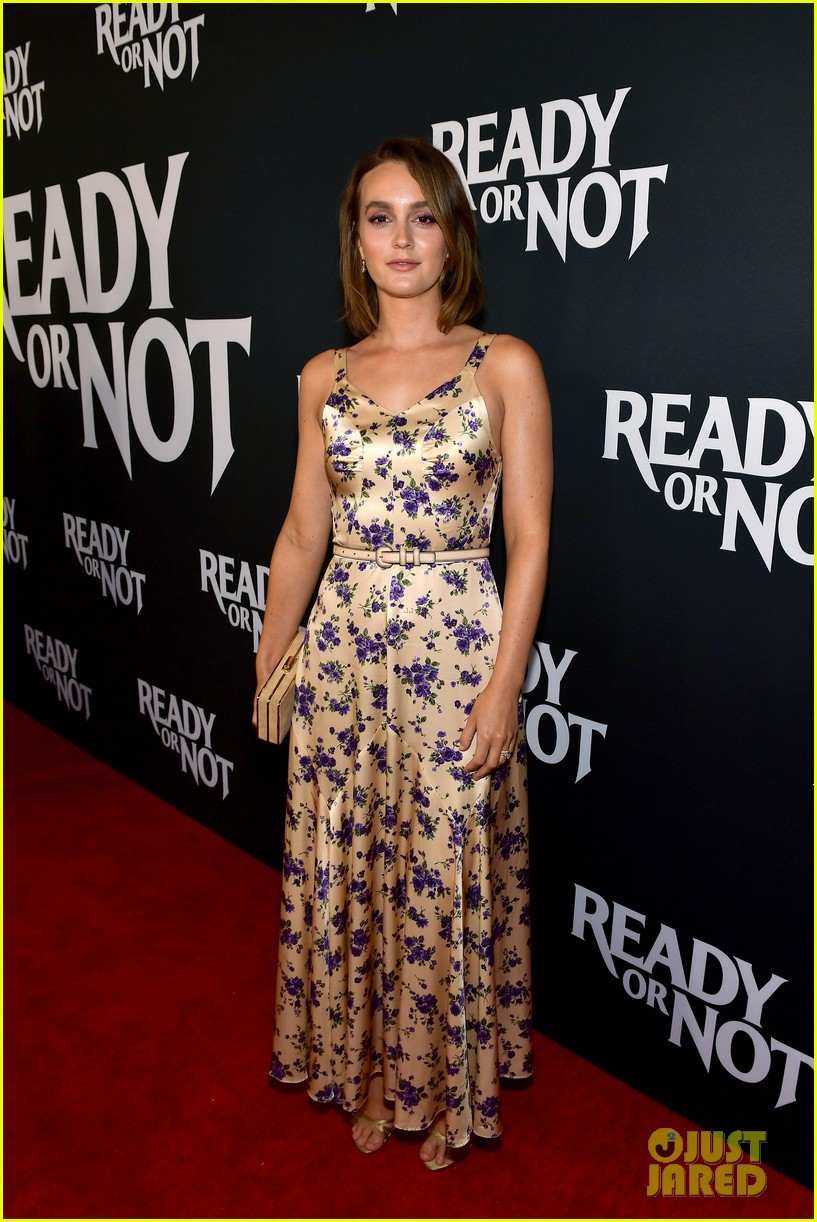 leighton meester supports adam brody at ready or not premiere 104337471