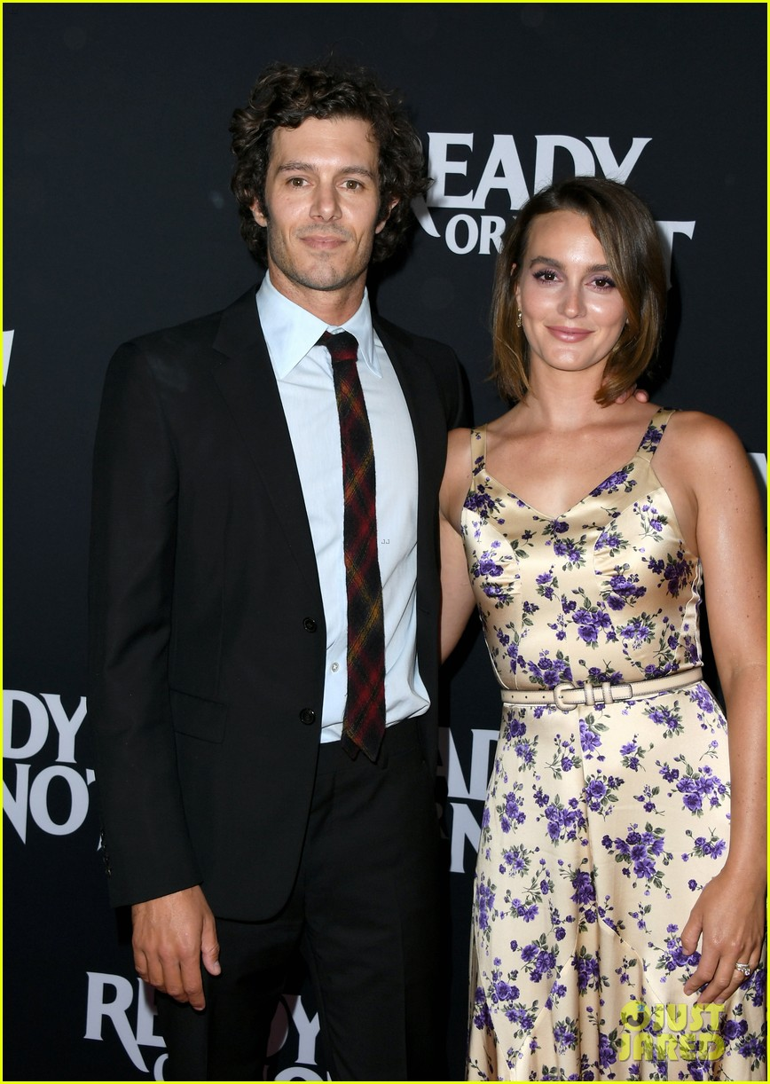 leighton meester supports adam brody at ready or not premiere 114337472
