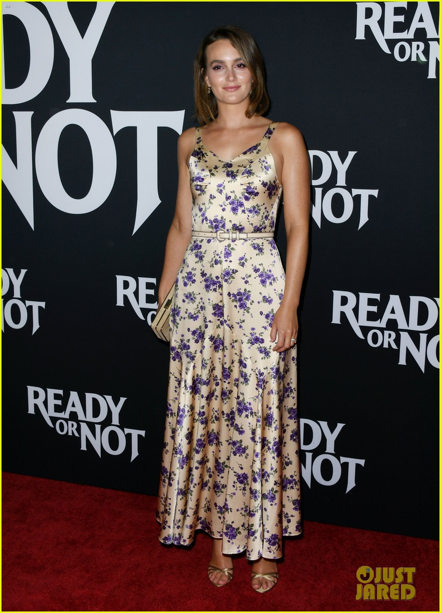 leighton meester supports adam brody at ready or not premiere 134337474