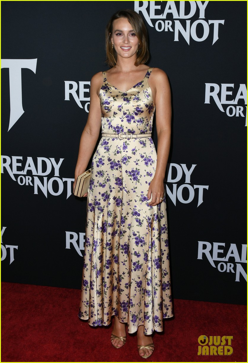 leighton meester supports adam brody at ready or not premiere 154337476