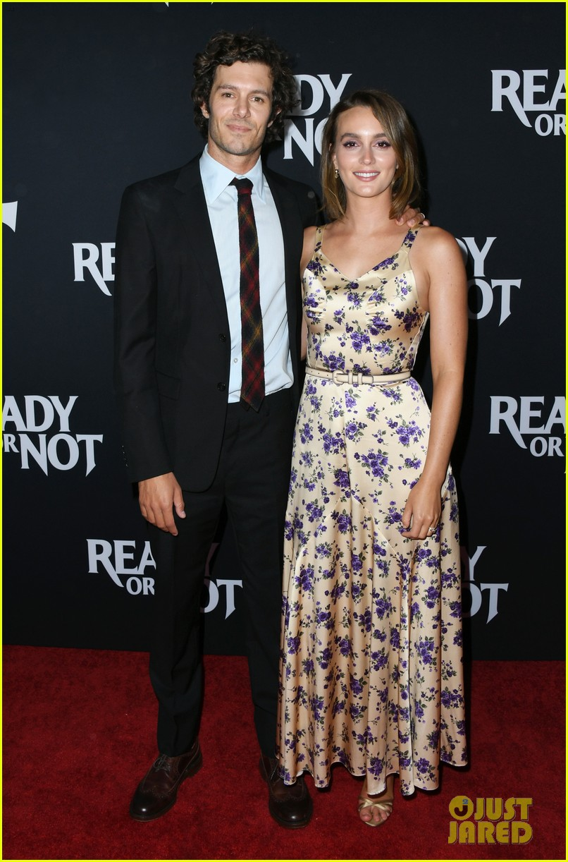 leighton meester supports adam brody at ready or not premiere 174337478