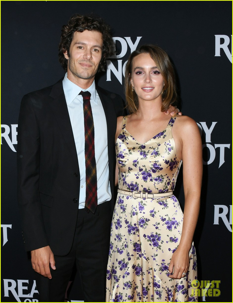 leighton meester supports adam brody at ready or not premiere 184337479