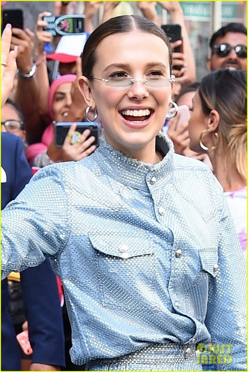millie bobby brown causes fan frenzy at florence by mills pop up 024339943