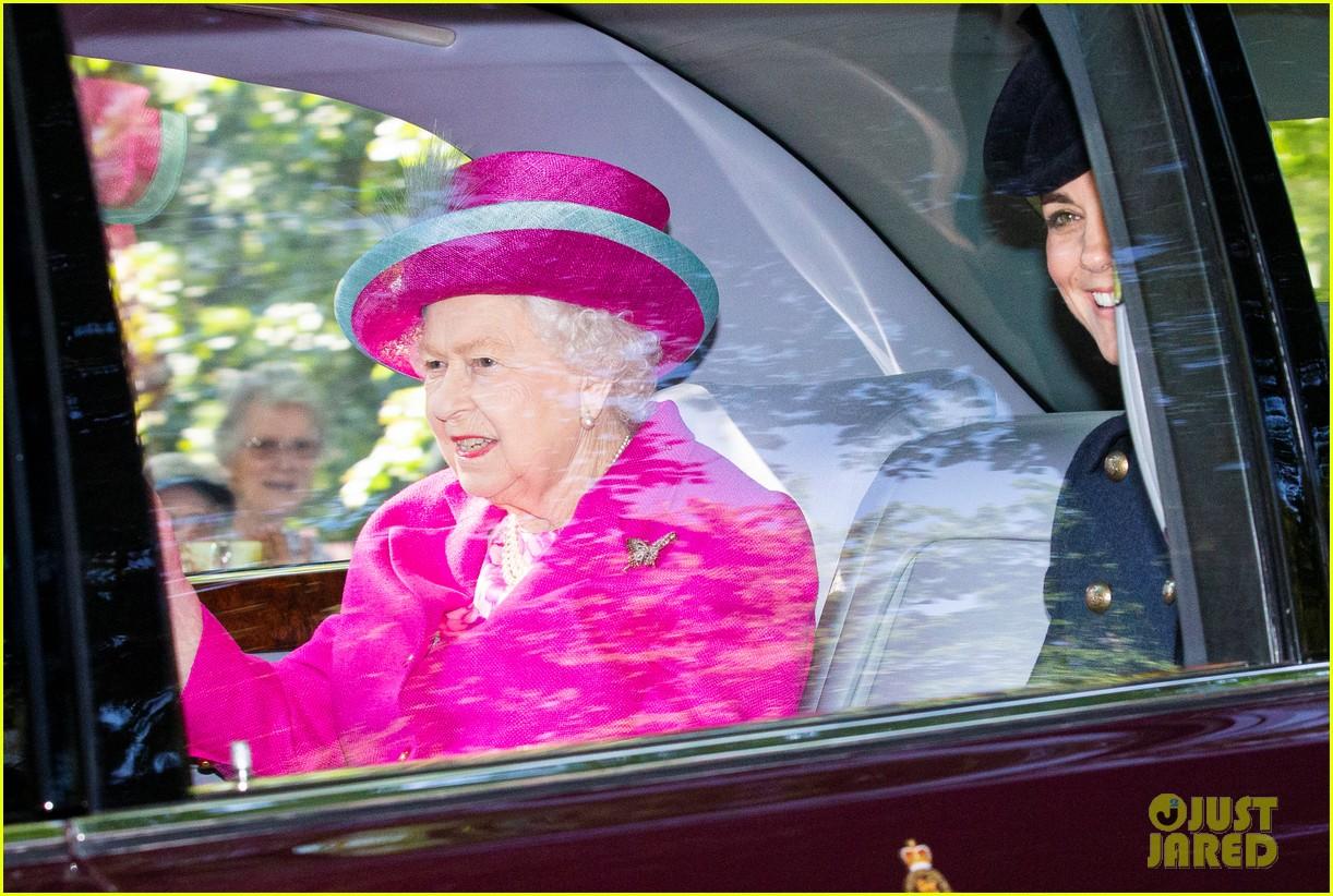 queen elizabeth kate middleton church august 2019 12