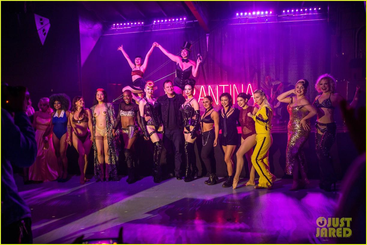 quentin tarantino supports tarantina hollywood 1969 burlesque show 064337671