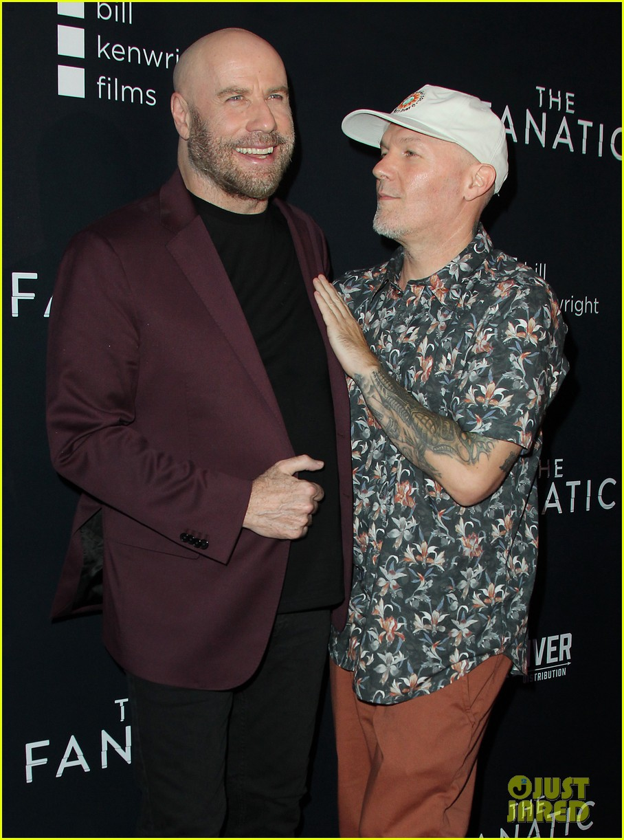 john travolta fred durst team up for the fanatic premiere 034338915