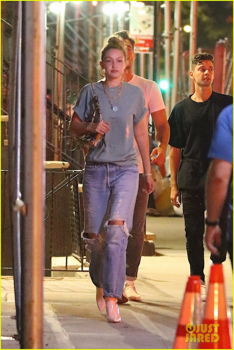 gigi hadid enjoys a night out with tyler cameron in nyc 01