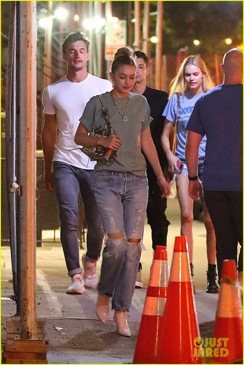 gigi hadid enjoys a night out with tyler cameron in nyc 13
