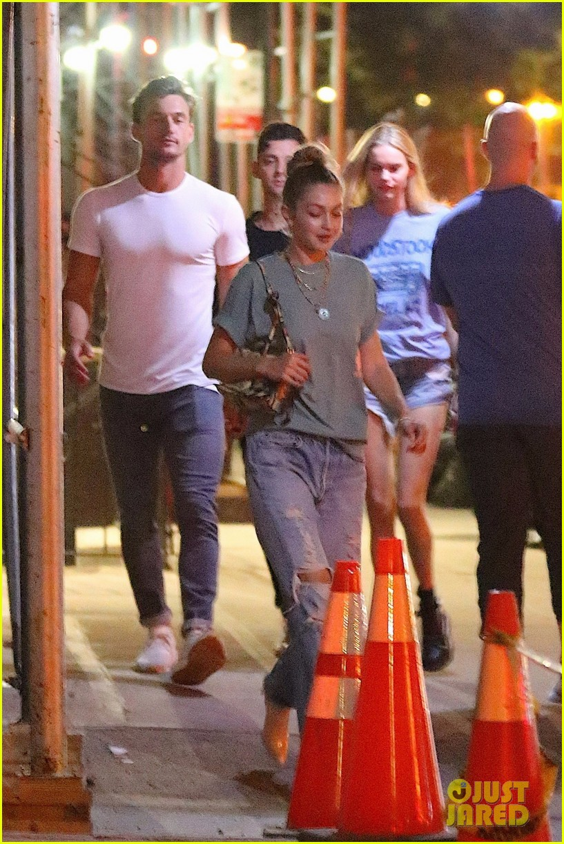 gigi hadid enjoys a night out with tyler cameron in nyc 14