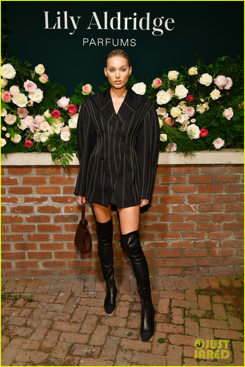 lily aldridge supported model friends perfume nyfw event 214348820