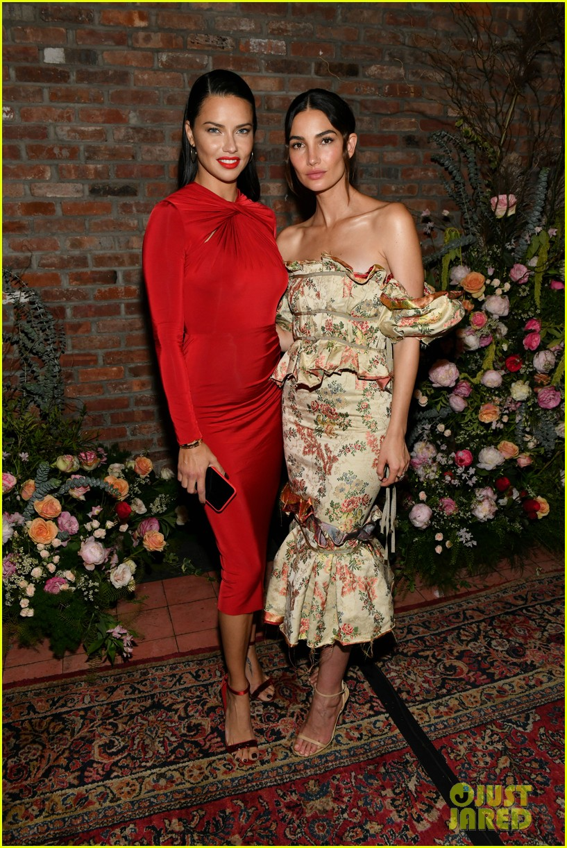 lily aldridge supported model friends perfume nyfw event 284348827