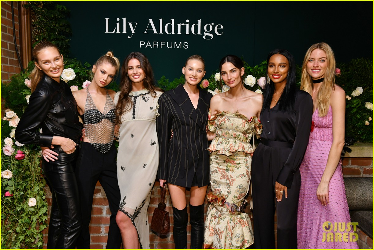 lily aldridge supported model friends perfume nyfw event 294348828