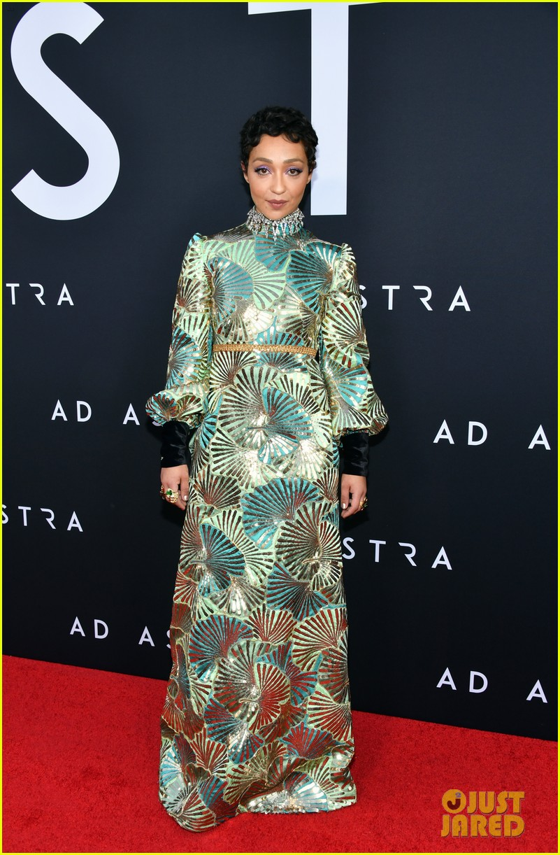 brad pitt ruth negga step out for ad astra premeire 104355111