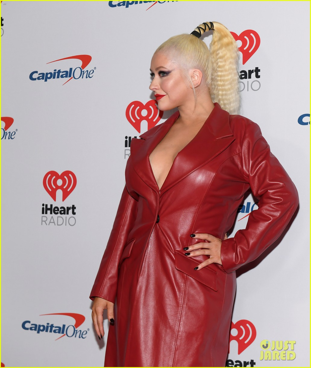 christina aguilera steps out for iheartradio festival 144356448