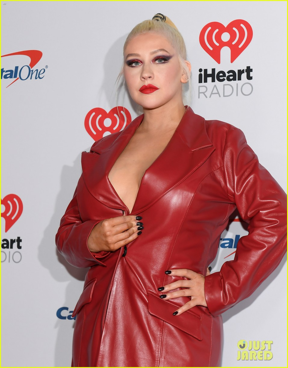 christina aguilera steps out for iheartradio festival 154356449