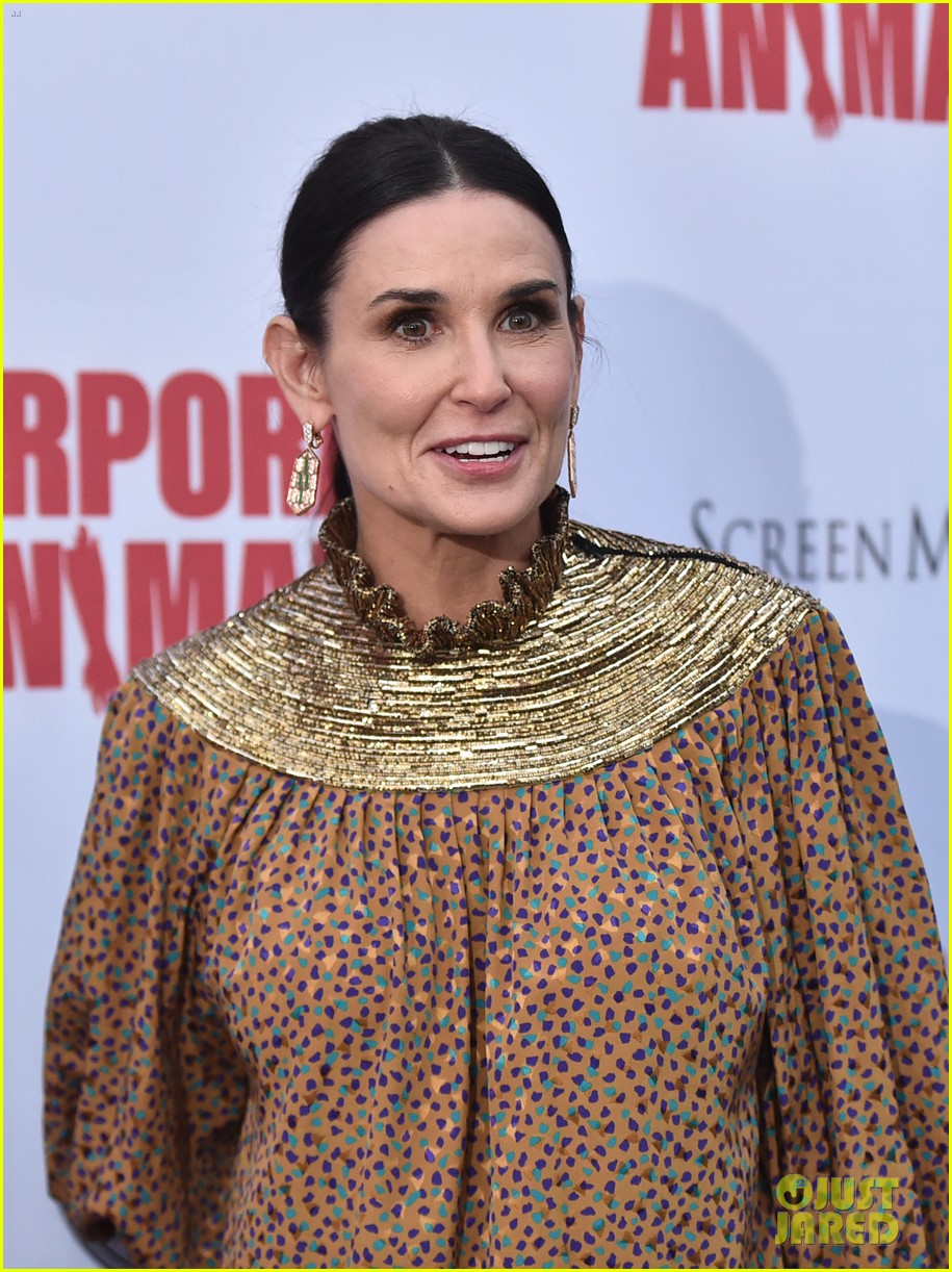 demi moore is all smiles at corporate animals premiere 144355171