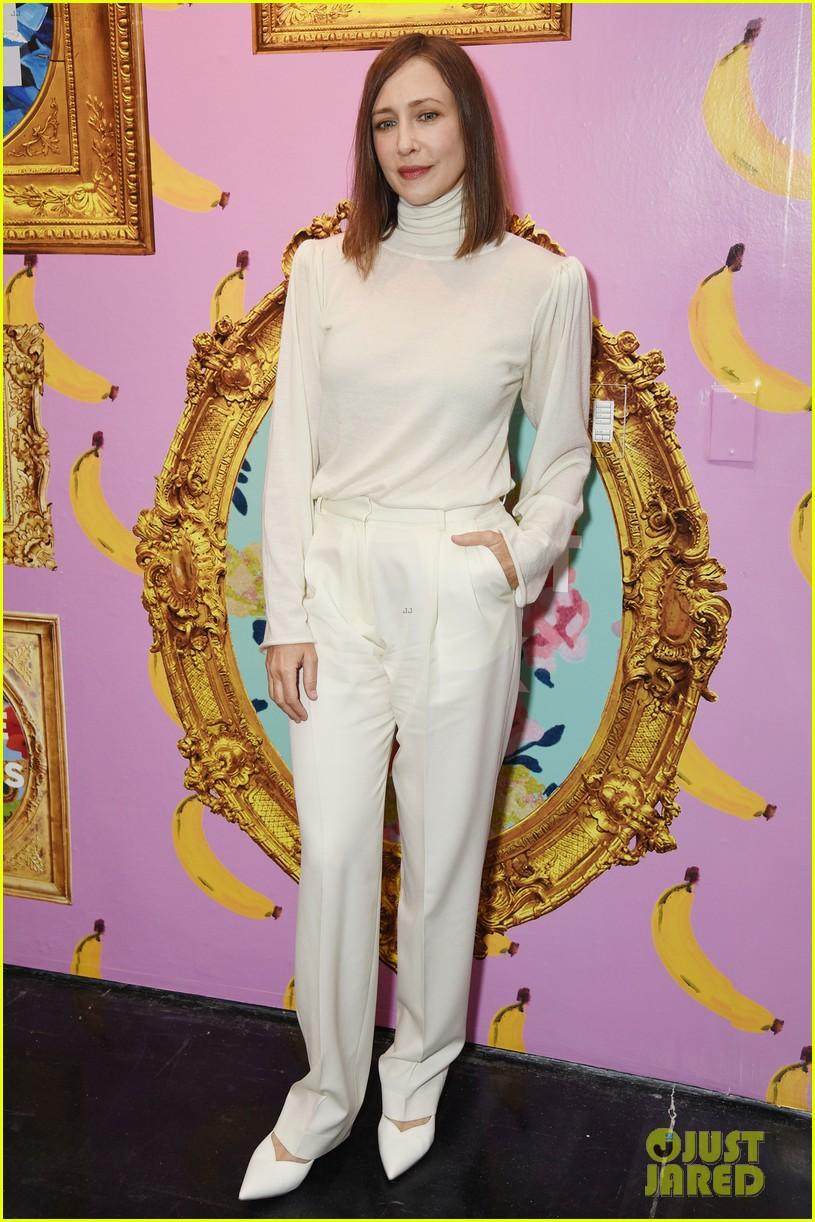 vera farmiga wears all white for ryan roches nyfw show husband renn hawkey 024351242