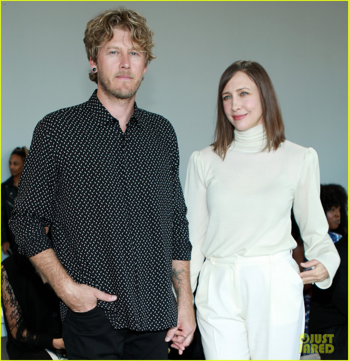 vera farmiga wears all white for ryan roches nyfw show husband renn hawkey 034351243