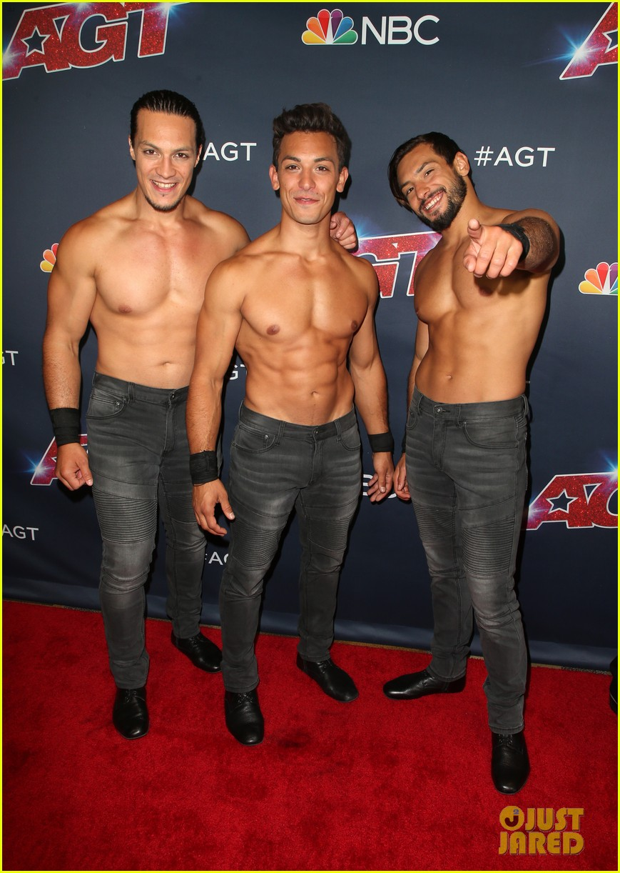 julianne hough joins shirtless acrobats for magic mike performance on agt 10