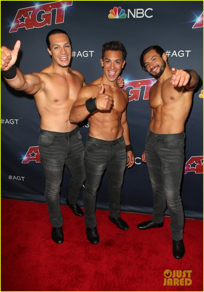 julianne hough joins shirtless acrobats for magic mike performance on agt 11