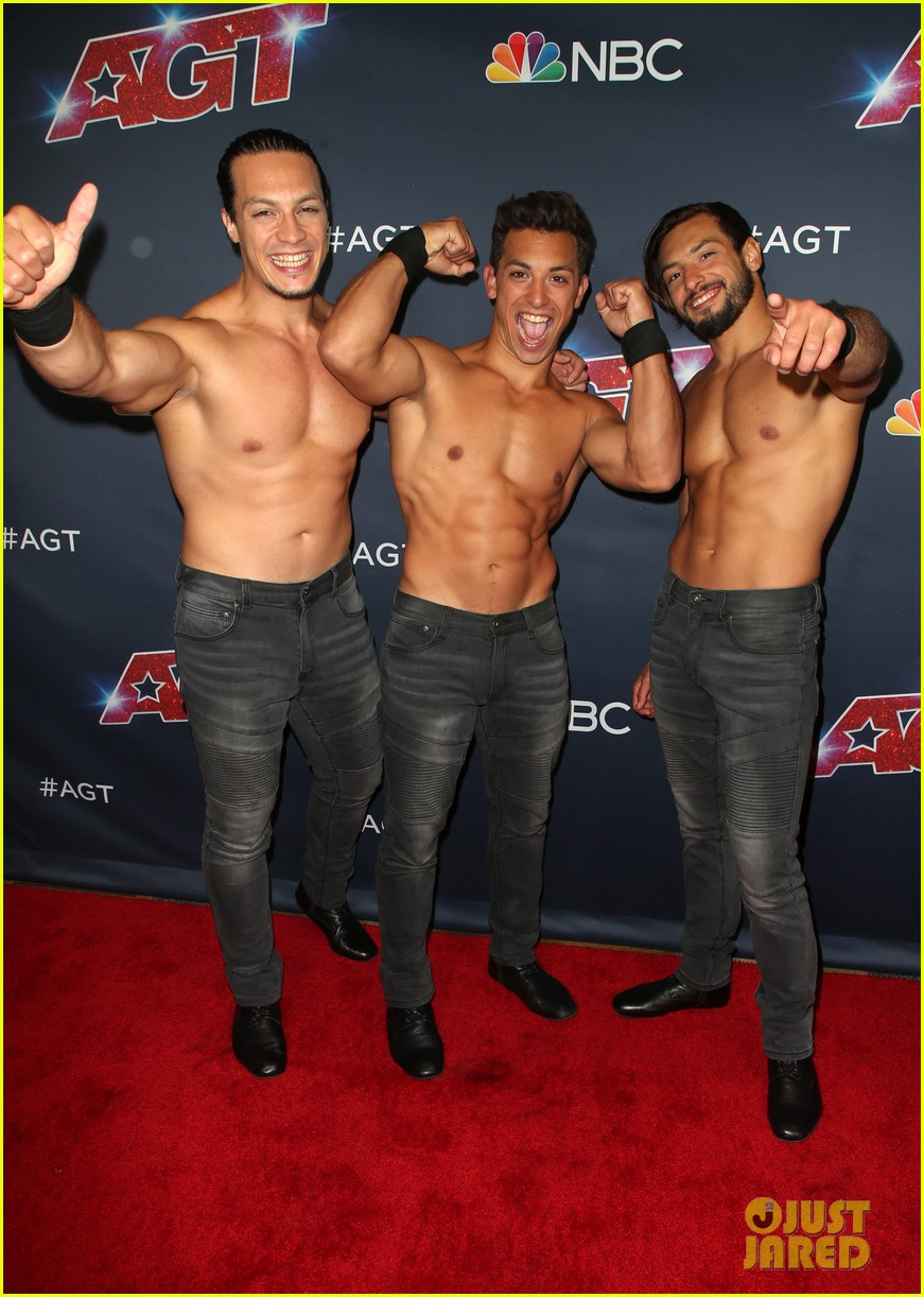julianne hough joins shirtless acrobats for magic mike performance on agt 12