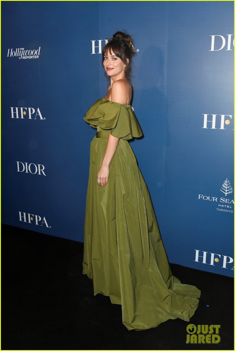 dakota johnson jamie dornan attend hfpa thr party tiff 134347893