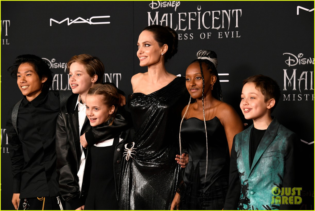 angelina jolie brings her kids to maleficent world premiere 484363261