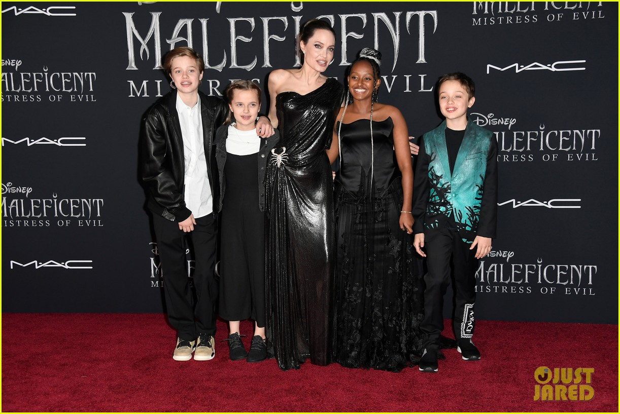 angelina jolie brings her kids to maleficent world premiere 494363262