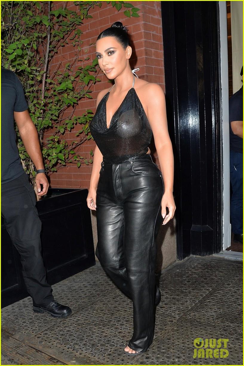 kim kardashian sports sheer halter top ahead of tonight show 014351246