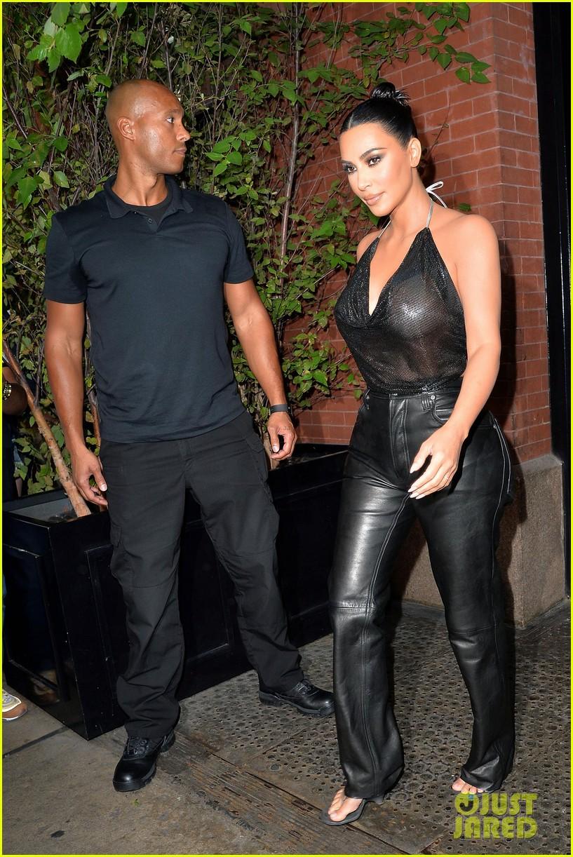 kim kardashian sports sheer halter top ahead of tonight show 024351247
