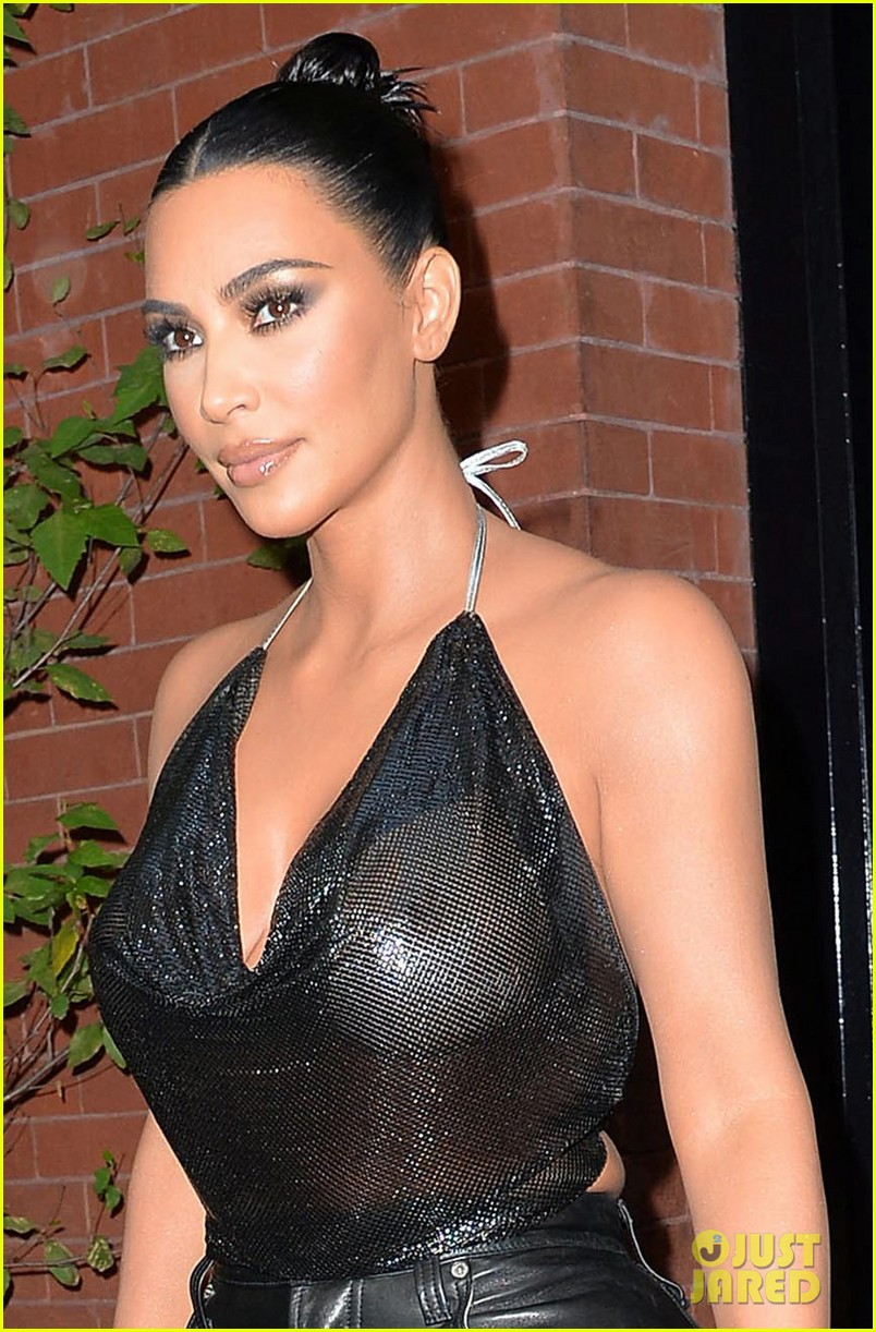 Kim Kardashian Sports Sheer Halter Top Ahead of 'Tonight ...